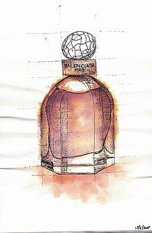 Kresby - BALENCIAGA parfém - 9219517_