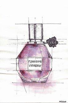 Kresby - FLOWERBOMB parfum by VICTOR&ROLF - 9219519_