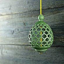 Dekorácie - Aroma ozdoba/ vajíčko zelené - 9218231_