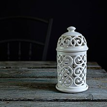 Svietidlá a sviečky - Aromalampa bílá - 9218267_