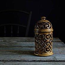 Svietidlá a sviečky - Aromalampa hnědá - 9218316_
