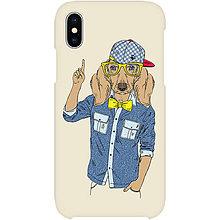 Na mobil - Kryt s motívom Hipster dog pre Apple, Huawei a Samsung - 9217470_
