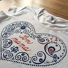 Detské oblečenie - Folkové maľované tričko (S nápisom
