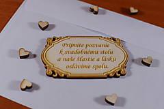 Papiernictvo - Pozvánka ku svadobnému stolu doplnok k svadobnému oznameniu - 9216326_