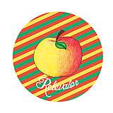 Grafika - Ozdoba na koláčiky ovocná kreslená - jablki (pásiky) - 9216798_