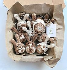 Dekorácie - Mix zajačikov a sliepočiek (100% biobavlna) - 9223453_