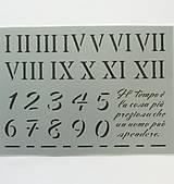 Pomôcky/Nástroje - Šablóna Stamperia - 15x20 cm - čísla, rímske číslice - 9220284_