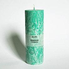 Svietidlá a sviečky - Zelená sviečka Ø55 - 9223144_