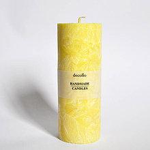 Svietidlá a sviečky - Žltá sviečka Ø55 - 9223166_