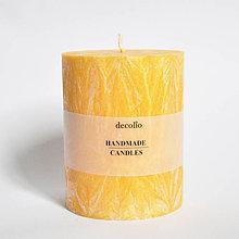 Svietidlá a sviečky - Žltá sviečka Ø75 - 9223262_