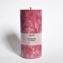 Svietidlá a sviečky - Bordová sviečka Ø65 - 9223387_