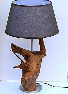Svietidlá a sviečky - Stolová lampa - agát - 9221710_