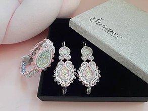 Sady šperkov - ružový sen - štebotavý set šujtášových šperkov - 9220836_