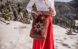 Veľké tašky - Vyšívaná taška Poľana - 9220000_
