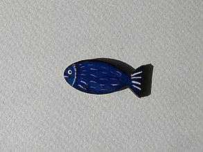 Odznaky/Brošne - Brošničky Rybičky (Modrá) - 9222510_