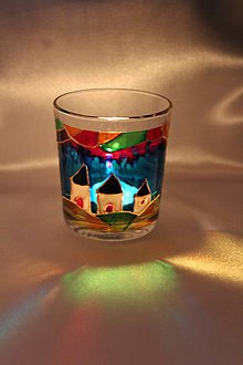 Svietidlá a sviečky - Maľovaný svietnik