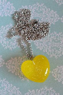 Náhrdelníky - Náhrdelník Žlté srdce (2378 A CHO) - 9223306_