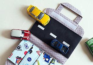 Detské tašky - Autíčkovník s cestou, modrý - 9220575_