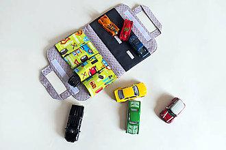 Detské tašky - Autíčkovník s cestou, zelený - 9220615_