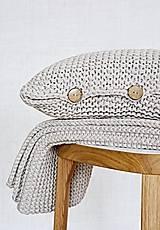 Pletený vankúš - hnedý