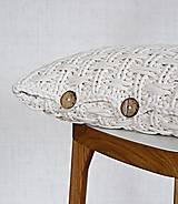 Úžitkový textil - Pletený vankúš - prírodný - 9219865_