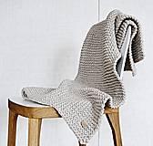 Pletený koberček/predložka - hnedá