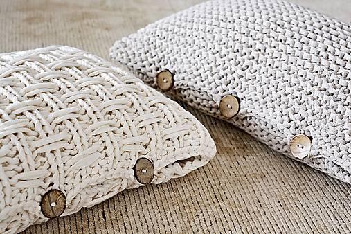 Pletený vankúš - prírodný