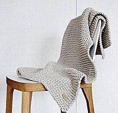 Úžitkový textil - Pletený koberček/predložka - hnedá - 9219896_