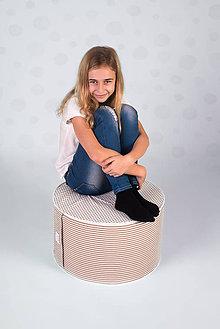 Úžitkový textil - ružová taburetka - 9222009_
