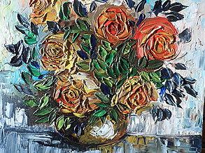 Obrazy - Zátišie s ružami - 9221974_