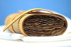 Papiernictvo - Kožený zápisník OROMO A6 - 9219665_