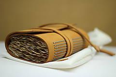 Papiernictvo - Kožený zápisník OROMO A6 - 9219669_