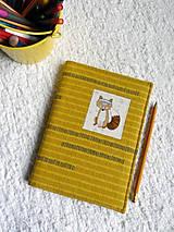Papiernictvo - Obal na zápisnik - líška - 9223863_