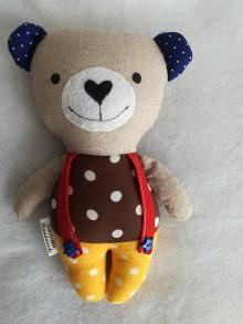 Hračky - Medvedík hnedo - žltý - 9220764_