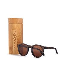 Iné doplnky - Dámske tmavé drevené slnečné okuliare s dreveným púzdrom - 9222572_