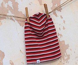 Detské čiapky - Detská celoročná merino čiapka šmolko červený - 9220678_