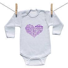 Detské oblečenie - Originálne body Slovensko (Fialová) - 9221803_
