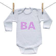Detské oblečenie - Originálne body BA (Bratislava) (Ružová) - 9222159_