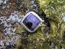 - Strieborny prsteň Ag 925 Čaroit - 9220931_