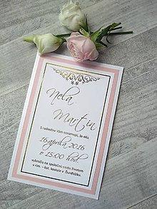 Papiernictvo - svadobné oznámenie 801 - 9223340_