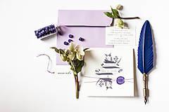 """Papiernictvo - Svadobné oznámenie """" Violet"""" - 9222588_"""