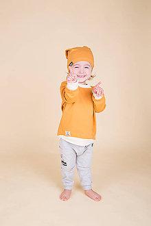 Detské oblečenie - Detská mikina v horčicovej - 9222075_