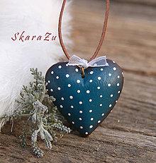 Náhrdelníky - Little Heart dots / 3D - 9222796_