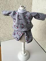 - Domáce oblečenie pre bábiku- 25-27 cm. - 9220813_