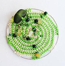 Odznaky/Brošne - Zelená glaxia - brošňa (priemer: 5,5 cm - Zelená) - 9223399_