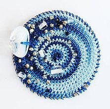 Odznaky/Brošne - Zelená glaxia - brošňa (priemer: 5 cm - Modrá) - 9223402_