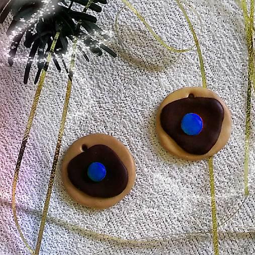 FIMO vianočné medovníky (vianočné kolieska s lentilkou)