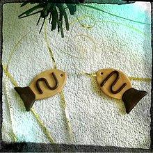 Dekorácie - FIMO vianočné medovníky (rybičky) - 9220635_