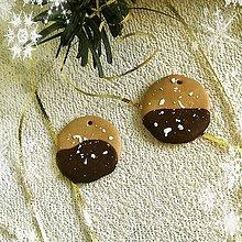 Dekorácie - FIMO vianočné medovníky (polomáčané kolieska) - 9221070_