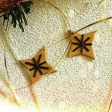 Dekorácie - FIMO vianočné medovníky (hviezdičky) - 9222364_
